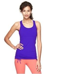 GAP FIT Drawstring Tie Side Ruched Tank Top XS